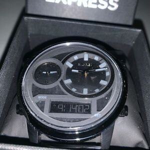 New in box Express Black Oversized Watch GIFT sexy